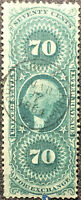 Scott #R65c US 1864 70 Cent Washington Revenue Foreign Exchange Stamp