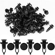 100x 9mm Car Door Trim Fender Clips Black Plastic Rivets Fastener for Toyota JR