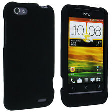 Black Snap-On Hard Case Cover for HTC One V