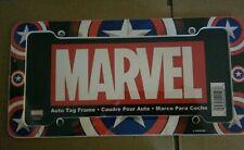 NIP Marvel Comics Captain America Shield Plastic License Plate Frame Truck Car