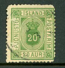 Iceland 1876 Official 20a Scott #O8 VFU N978