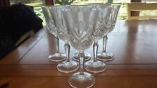 Water Goblets Glasses Masquerade by CRISTAL D'ARQUES France 6 9 oz glasses EUC