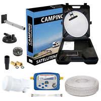 Mobil Camping Koffer tragbar SAT Digital Anlage LNB 0,1dB Satfinder FULL HDTV 3D