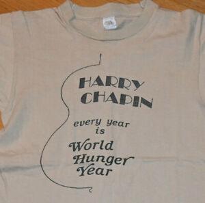 *1970's HARRY CHAPIN* vtg rock concert tour Cheap Seats tee shirt (S/XS) Small