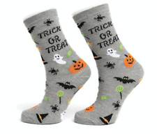 Ladies Womens Cotton Trick or Treat Halloween Design Funky Socks