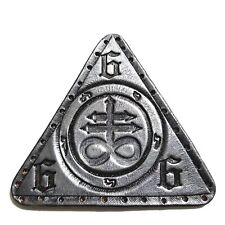 leviathan cross silver antique triangle  GENUINE LEATHER  PATCH