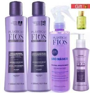 Brazilian Hair Treatment Cadiveu Plastica Dos Fios Kit Home Care 4 Steps