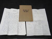 Lot The Story of New Paltz New York By Cornelia Du Bois 1936 1st Ed & Letter/Map