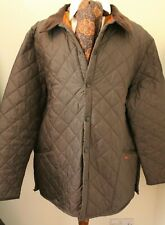 "BARBOUR LIDDESDALE XXL 52-54"" BROWN QUILTED OUTDOOR MENS BARBOUR JACKET"