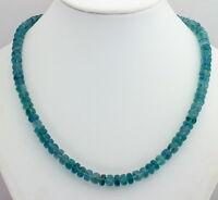 Fluorit kette edelsteinkette facettierte Rondell grün- blau Collier Edel 47 cm