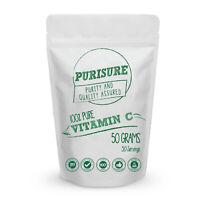 Vitamin C (Ascorbic Acid) | 100% Pure Powder | Non GMO & Antioxidant | New 50g