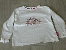 414 – T-shirt 4 ans ML blanc fantaisie thème CAMILLE VISITE BOSTON SERGENT MAJOR