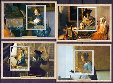Rwanda 1975 Painting. Vermeer, 4 s/sheets. MNH