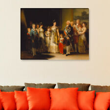 "WANDKINGS Leinwandbild Francisco José de Goya - ""Familie Karls IV. von Spanien"""