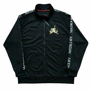Nike Air Jordan DMP Black Gold Classic Warmup Jacket CK2180-011 Mens XL MSRP $90