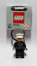 Brand New Lego - Police Officer Keyring (2008) - 851626 -  City - Rare Gray Tag