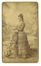 19th Century Fashion - 19th Century Carte-de-visite Photograph - La Porte, IN