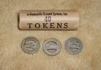 Indianapolis Railway SystemOriginal Roll Of40 Tokens Wrapped