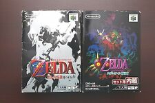 Nintendo 64 The Legend Of Zelda Majora's Mask + Ocarina of Time boxed Japan game