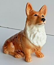 Vintage Retired Sylvac Dog Figurine 'Corgi - Sitting'  # 3128 Gorgeous Fellow