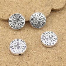 Wholesale 10pcs/lot 13MM Spacer Beads Antique Silver For Bracelets Necklaces DIY