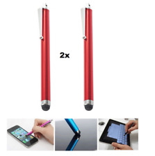 💥universal 2x Rot EingabeStift Touch Pen für Handy TouchScreen Tablet Touchpad