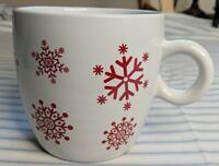 California Pantry 2009 White mug with Red Snowflakes