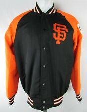 San Francisco Giants Mens Black G-III Snap Up World Champions Varsity Jacket MLB