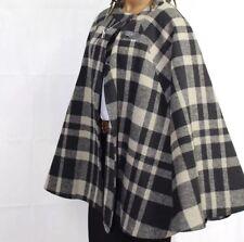 WOMEN's TU Grey+Black Wooly Warm Cosy Outdoor WINTER COAT Cape PONCHO UK 18