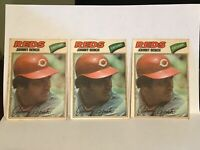 1977 Topps Cloth Stickers Johnny Bench #3 - Cincinnati Reds - 3 Card Lot