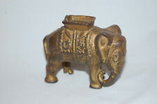 "New ListingCast Iron ""Elephant With Howdah (Small)"" Still Bank Made By A.C. Williams"