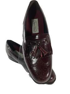 Florsheim Lexington Mens shoes Tassel Burgundy Leather Comfort Cushion 8.5 3E
