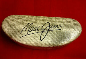 Maui Jim Tan Thatched Look Clam Shell Hard Sunglass Case. Mint Condition