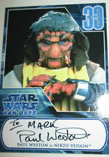 Hand Signed Photo Trading Card of Star Wars Nikto Vedain - Paul Weston