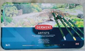 36 DERWENT ARTISTS  COLOURING PENCILS - 36 PACK - NEW & SEALED