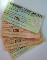 Lotto Misto San Paolo - Brescia e Altri di mini-assegni anni '70