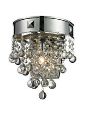 Z-Lite 612-1S-Ch Iluva 1 Light Chrome And Crystal Wall Sconce
