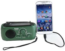Emergency Preparedness Solar AM/FM/NOAA Weather radio w/ Phone Charger
