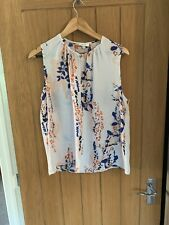 Reiss Floral Vest Top. Slightly See Through. Uk Size 14.