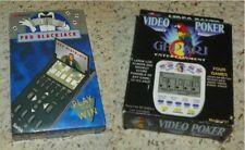 Video Poker (4 in 1) & Pro Blackjack w/ Boxes - Electronic Handheld Games