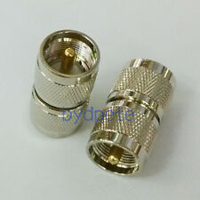 UHF male plug PL-259 PL259 to UHF male Straight RF Coaxial Connector Adapter