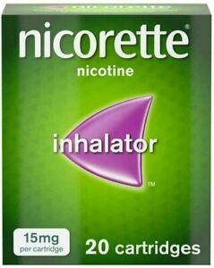 Nicorette Inhalator 15mg 20 Cartridges *NEXT DAY DISPATCH* Expiry 02/22