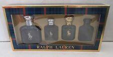 RALPH LAUREN POLO BLUE MENS 4 PIECE GIFT SET BOXED READ DETAILS PLEASE