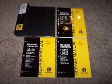 New Holland LS120 LS125 Skid Steer Loader Factory Shop Service Repair Manual Set