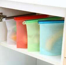 Useful 4pcs Reusable Silicone Vacuum Food Fresh Bags Wraps Fridge Food Storage