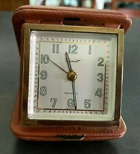 Vintage Travel Alarm Clock by Tourist, 7 Jewels, made in Germany, Works Great!