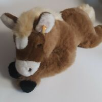 "Steiff Plush Horse Mare Niki 101809 Brown Stuffed Animal Toy 25"" Long"