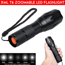 8000LM CREE T6 LED Flashlight AAA Waterproof Zoomable Torch Hunt Light 18650 XML