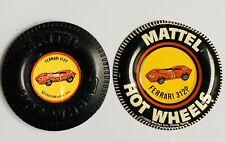 Hot Wheels Redline Ferrari 312P Plastic & Metal Button Lot 1969