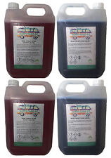 Blue & Pink Chemical Motorhome & Caravan Toilet Fluid Cleaner & Protector- 4x 5L